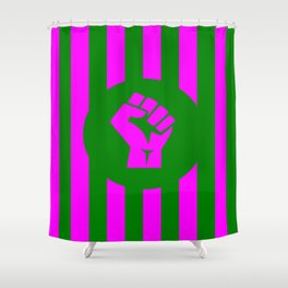 woman feminist logo Shower Curtain