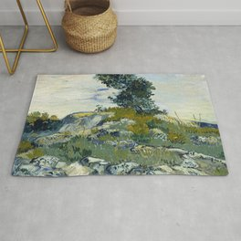 Vincent van Gogh - The Rocks (1888) Rug