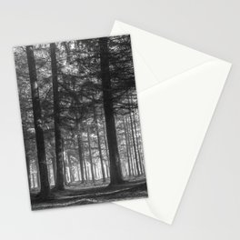 Black and white woods - North Kessock, Highlands, Scotland Stationery Cards