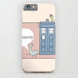 Don't Let the Pigeon Drive the Tardis iPhone Case