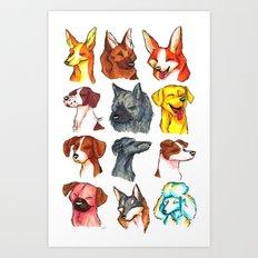 Brush Breeds Compilation 2 Art Print