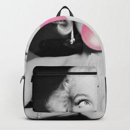 Bubble Gum Marilyn pop art portrait black and white photography - black and white photographs Backpack