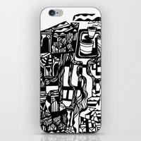 cafe iPhone & iPod Skins featuring CAFE by TortueMasquee
