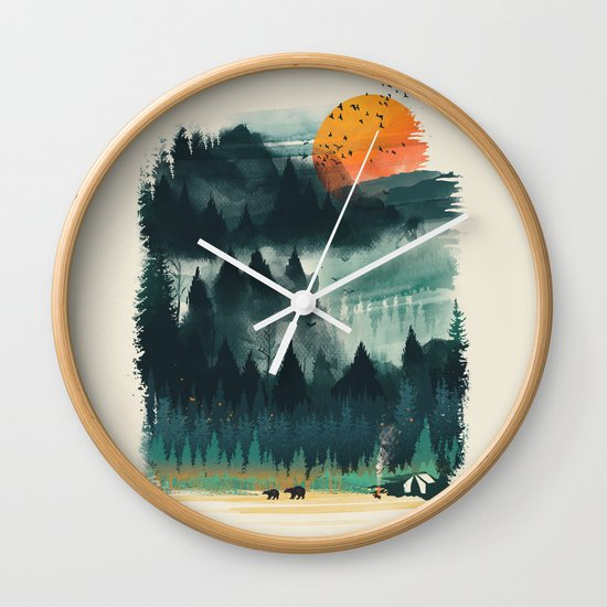 Wilderness Camp Wall Clock