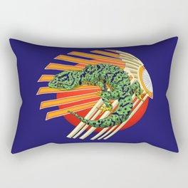 Native Japanese Gecko Rectangular Pillow