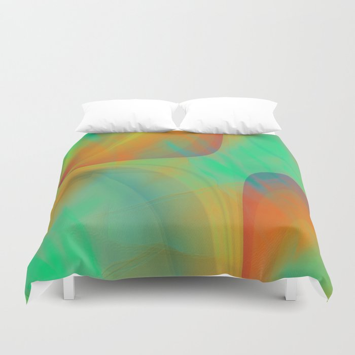 Multicolored abstract 2016 / 001 Duvet Cover