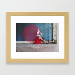 when sadness was the sea Framed Art Print