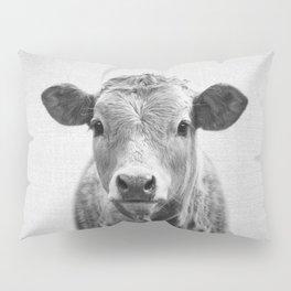 Cow 2 - Black & White Pillow Sham