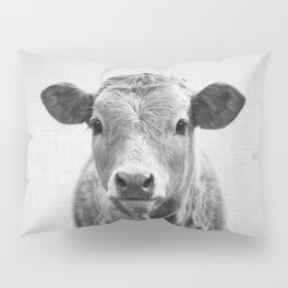 Cow 2 - Black & White Pillow Sham