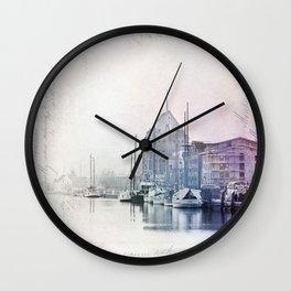 Greifswald Northeast Germany Harbour Wall Clock