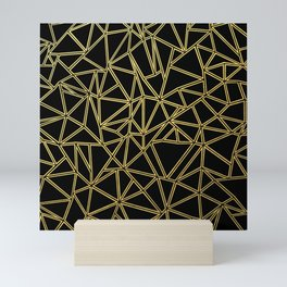 Abstract Blocks Gold Mini Art Print