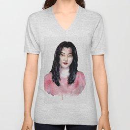 Korean girl Unisex V-Neck
