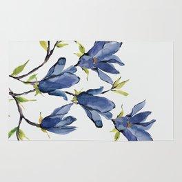 Blue Flowers 3 Rug