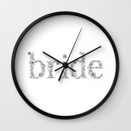Bride Rose Text Wall Clock