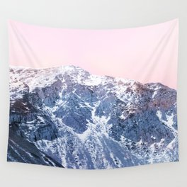 Rose Quarz and Serenity Mountains Wall Tapestry