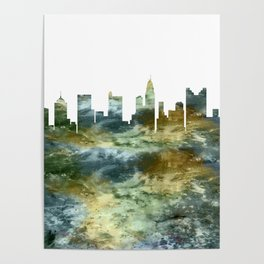 Columbus Skyline Ohio Poster