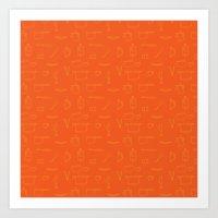 Saturday Morning Kitchen - Orange Juice Color Art Print