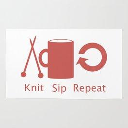 Knitting and Coffee Rug
