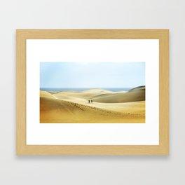 Maspalomas Beach, Gran Canaria. Framed Art Print