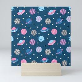 Universe & Planets Pattern Mini Art Print