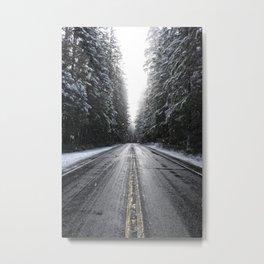 Among the Snowy Pines Metal Print