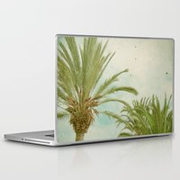 palm trees Laptop & iPad Skins featuring Palm Trees by Cassia Beck