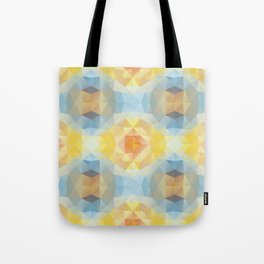 Kaleidoscopic design in soft colors Tote Bag