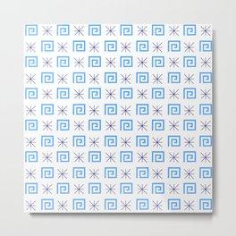 Antic pattern 6- greek labyrinth Metal Print