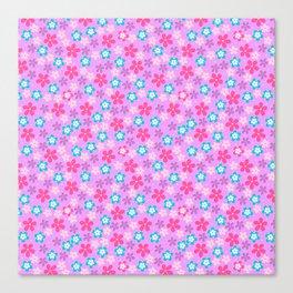 Pretty Flowers pink Canvas Print