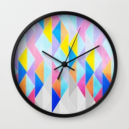 LOOK... PRETTY TRIANGLES Wall Clock
