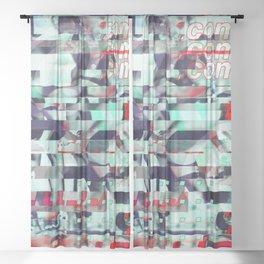 Glitch Decon 3 Sheer Curtain