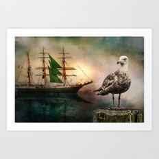Harbor life Art Print