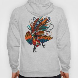 rooster ink turquoise Hoody