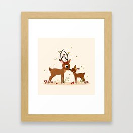 Bisou ma biche Framed Art Print