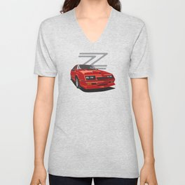 Daytona Turbo Z / CS - Red Unisex V-Neck