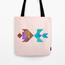 Tangram Fish in love Tote Bag