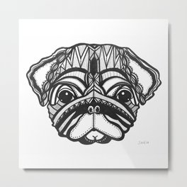 Doug the Pug Metal Print