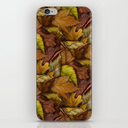 Painted Autumn Leaves iPhone Skin