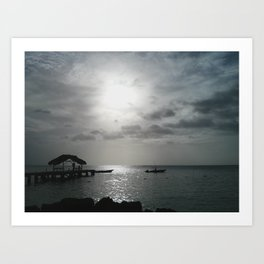Pier at Pigeon Point, Trinidad and Tobago Art Print