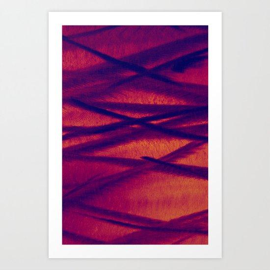 Metal in Red / Orange Art Print