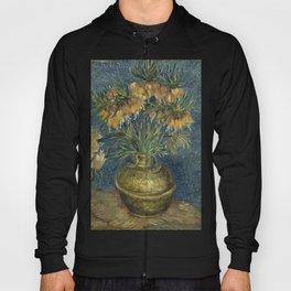 Van Gogh - Imperial Fritillaries in a Copper Vase Hoody