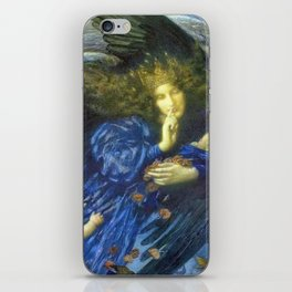 Night with her Train of Stars by Edward Robert Hughes iPhone Skin