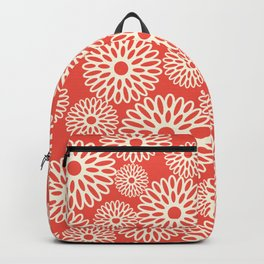 Flower Power in Red Backpack