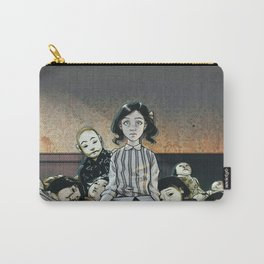 Japanese Dolls - Color Carry-All Pouch