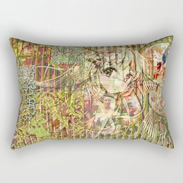 Jeune fille de joie usine (Factory girl joy) Rectangular Pillow