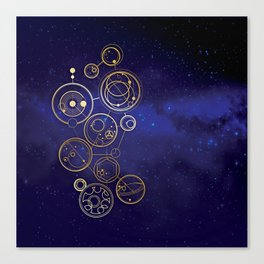 Gallifrey Gold Space Geometry Canvas Print