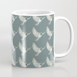 Pattern: Sparrow on blue-grey Coffee Mug