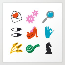 Virgo Emoji Art Print