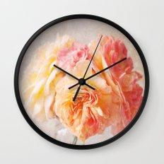 Textured Pastel Rose Wall Clock