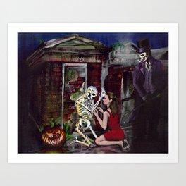 RARE LOVE, Halloween, Original art Art Print